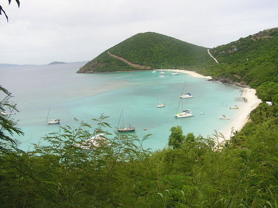 Jost Van Dyke: White Bay our view as we walked 3 miles to the bay!