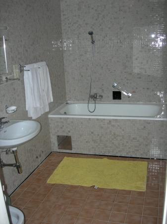 View of bathroom at Hotel Mozart.