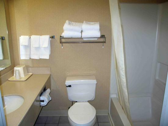 Quality Inn & Suites: Bathroom of Room 219