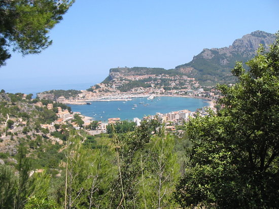 Soller, Spain: The view from walking trail