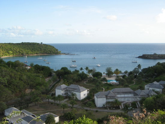 แอนติกา: The view from the top of the Inn at English Harbour