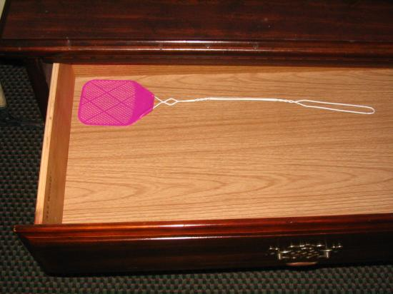 Queen of Diamonds Inn: The Flyswatter The Hotel Provides In The Drawer