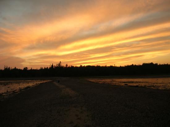Sunset over Islesboro