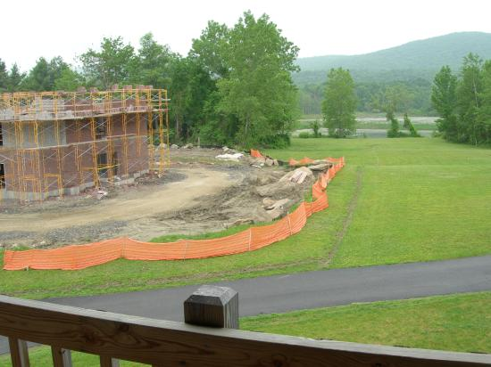Yankee Inn: View from balcony of swamp and construction