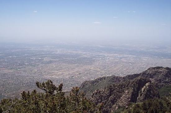 Sandia Peak Tramway: Albuquerque, as seem from Sandia Peak