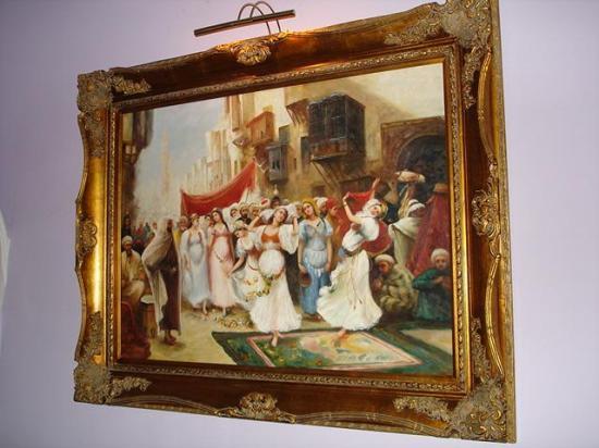 Restaurant La Maison de Marrakech : Un des tableaux de la chambre
