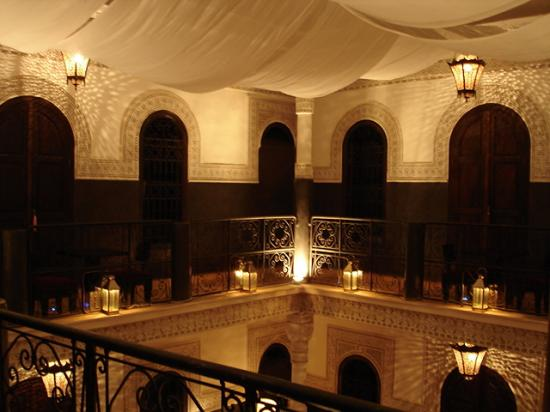 Restaurant La Maison de Marrakech: Le riad la nuit