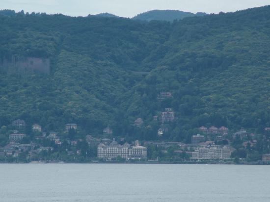 Hotel Pallanza: View of Stresa across Lago Maggiore from my room