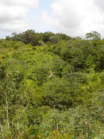Princeville Ranch: Zipping in Kauai