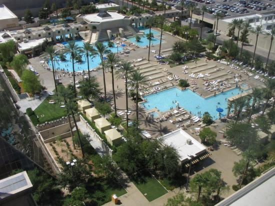 view of the pool from our room Picture of Luxor Hotel Casino