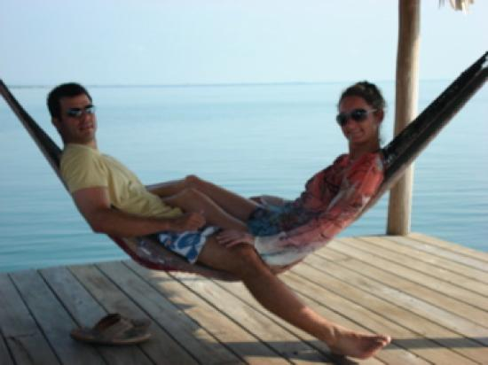 Hamanasi Adventure and Dive Resort: The BEST spot!!!  Hammocks at the end of the pier!