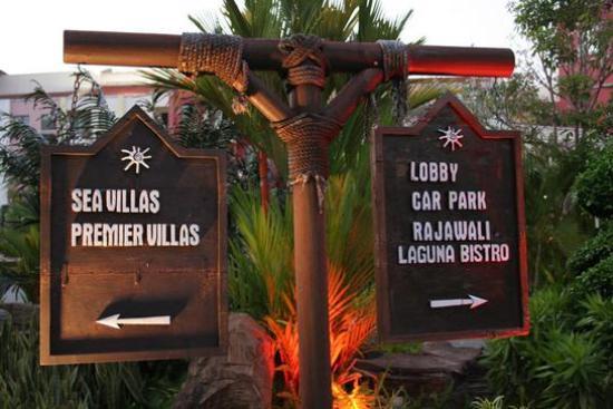 منتجع لانجكاوي لاجون: Sign