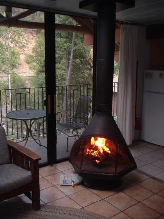 Forest Houses Resort: Free Standing Fireplace