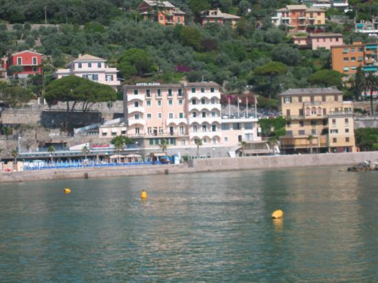 Hotel Elena : View of hotel from other side of Recco