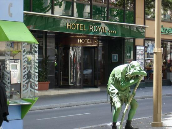 Hotel Royal And Street Performer From La Rambla Picture Of Royal