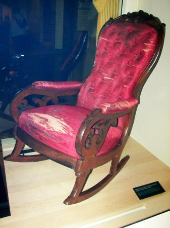 The Chair Lincoln Was Sitting In When He Was Shot
