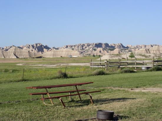 Badlands Interior Motel and Campground: View from the Campground