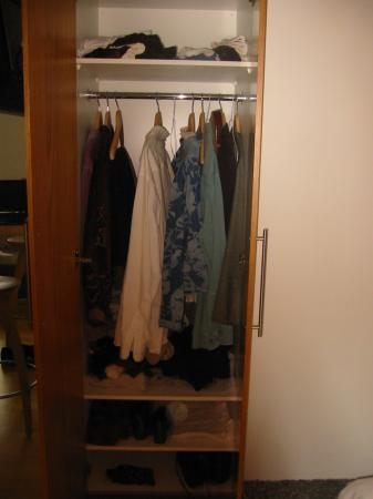 Home Luxury Apartments: Only hanging closet--no drawers.
