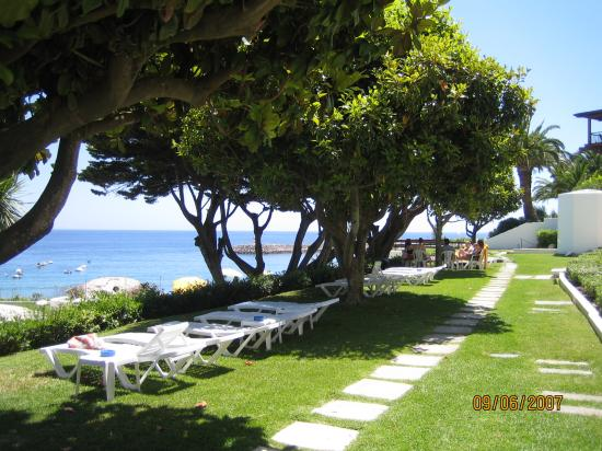 Hotel do Mar : Cool shady trees around the pool area