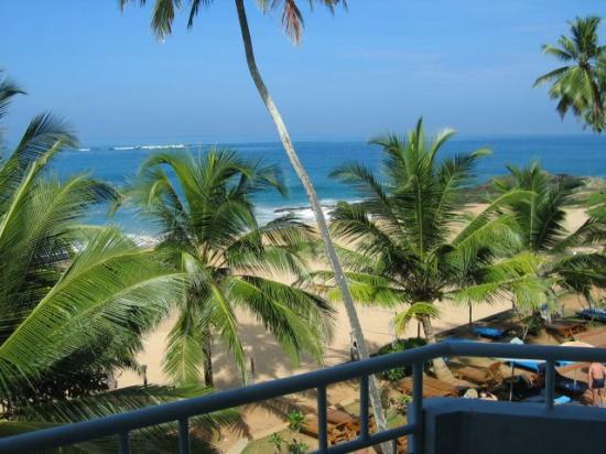 Induruwa, Sri Lanka: balcony view