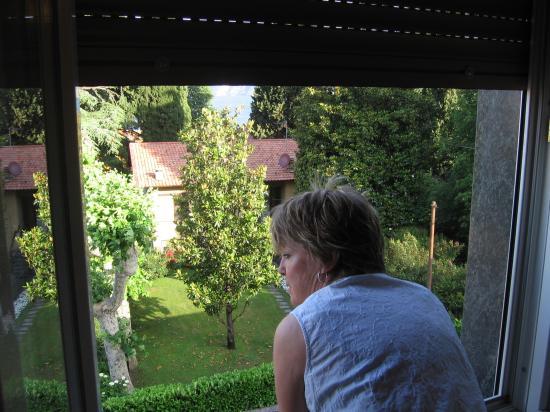 Albergo Beretta : View of trees/lake from window