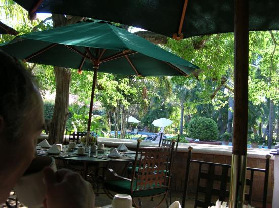 Hacienda San Gabriel de las Palmas: Outdoor Restaurant