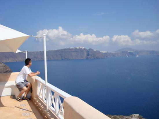 Art Maisons Luxury Santorini Hotels Aspaki & Oia Castle: Peaceful view from balcony