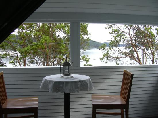 Blue Heron Rooms and Glamping: This is the view from the upstairs porch.