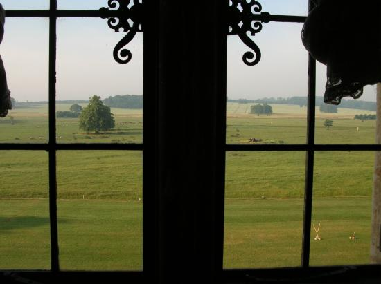 Stapleford Park: View from our bathroom