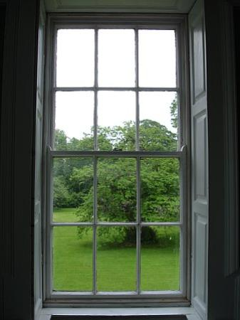 Roundwood House: view from the green room