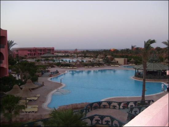 Park Inn by Radisson Sharm El Sheikh Resort: Pools looking down from roof top bar