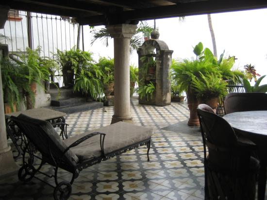 Quinta Maria Cortez: view from our entryway