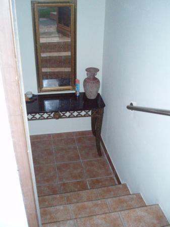 Villa Ensenada Inn: View from outside room looking inside room.