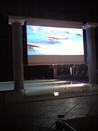Anassa Hotel: movies by the pool, very cool