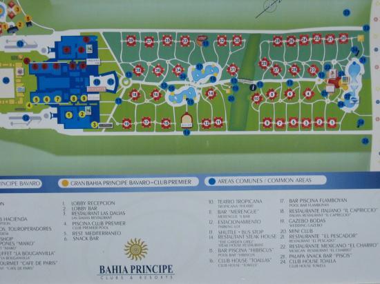 Grand Bahia Principe Bavaro: Map of resort