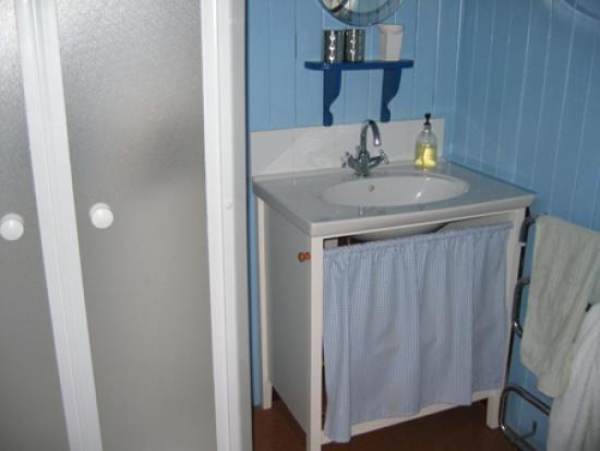 Oystercatcher Bed & Breakfast : bathroom: shower closet on left