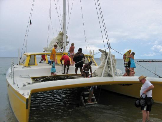 Catamaran - to Nevis and snorkeling