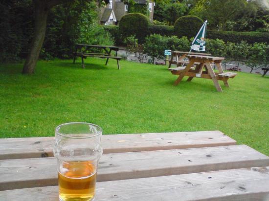 Golden Lion Hotel & Restaurant: The Beer Garden (and beer)