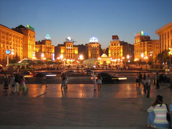 Khreschatik At Night Photo De Kiev Ukraine Tripadvisor