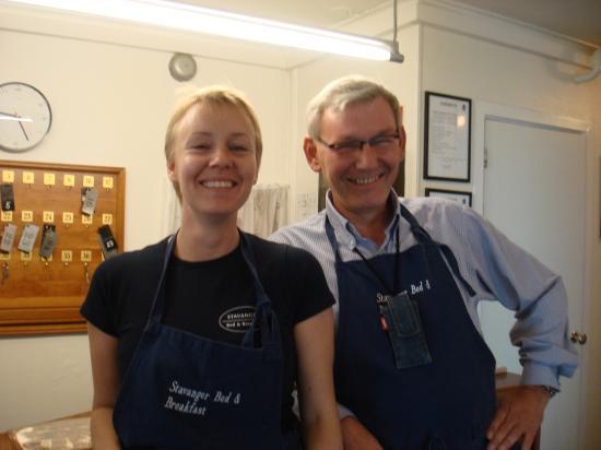 Stavanger Bed & Breakfast : Mr Peck & daughter, proprietors
