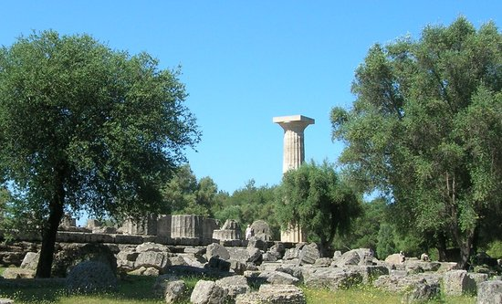 Olimp, Grecja: temple of Zeus