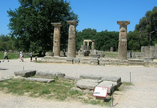 Olympie, Grèce : the olympic flame sanctuary