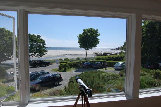 Blue Shutters Beachside Inn : The view of Good Harbor Beach from Blue Shutters Inn in Gloucester