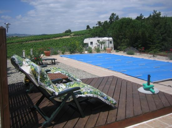 B & B in Limoux at Domaine St George: sit by the pool and admire the view