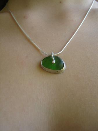 Glass Beach: My first piece of sea glass jewlery