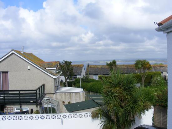 The Nook: View of St Ives bay from bedroom