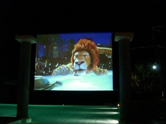 Anassa Hotel: The cinema screen