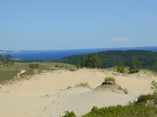 The Homestead: View from atop the Sleeping Bear Dunes