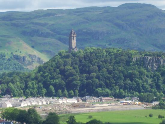 Witches Craig Caravan Park : The Wallace Monument from Sterling Castle