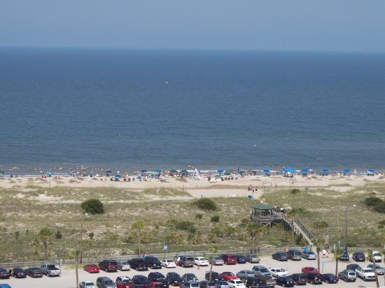 South Beach : a view of the beach from the top of the lighthouse